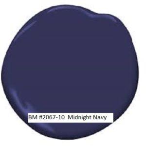 Benjamin Moore 2067-10 Midnight Navy