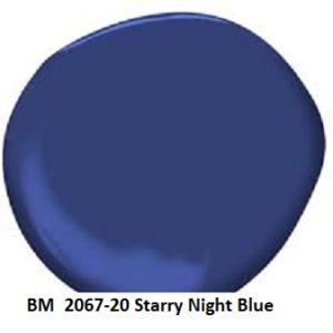 Benjamin Moore 2067-20 Starry Night Blue